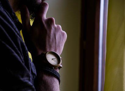 montre en bois poignet